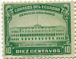 Lote EC94, Ecuador, 1945, Sello, Stamp, Palacio De Gobierno, Quito, Government Palace - Ecuador