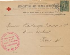 """Cachet """" HOPITAL AUXILIAIRE N°217 COMITÉ D'ETAMPES """" Seine Et Oise Sur Lettre à EN-TÊTE CORRESPONDANTE - SEMEUSE 130 - Poststempel (Briefe)"""