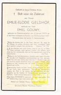 DP Emilie E. Geldhof ° Oostnieuwkerke 1879 † Staden 1947 X Emiel Gouwy - Devotion Images