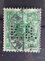 1889 MICH. N° 46 PERFORE K. B. - Germany