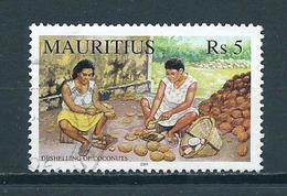 2001 Mauritius Cocunuts Used/gebruikt/oblitere - Mauritius (1968-...)