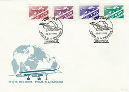 Moldova - 1992 - AIRPLANES / CONCORDE - FDC - Concorde