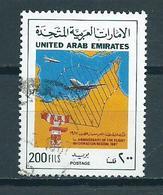 1987 VAE Flight Information Used/gebruikt/oblitere - United Arab Emirates