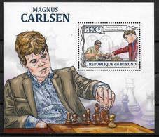 BURUNDI  BF 349 * *  ( Cote 17e )  Echecs Carlsen Karsparov Aronian - Echecs