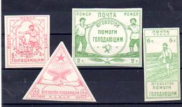 1922   Russie, Pour Les Affamés De La Volga, 176 / 179*, Cote 250 €, - Neufs