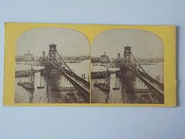 1900 Photo Stéréoscopique Instantaneous Views Of London N° 114 Tower Bridge Personnes Sur Le Pont - Photos Stéréoscopiques