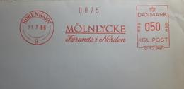EMA METER FREISTEMPEL DANMARK KØPENHAVN 1966 Medicine Farmacia Mölnlyche FØrende I Norden - Médecine