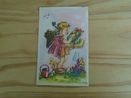 Petite Fille Chargée De Cadeaux - Kindertekeningen