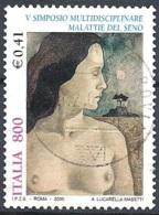 Italia, 2000 Malattie Del Seno, 800L # Sassone 2452 - Michel 2673 - Scott 2328  USATO - 6. 1946-.. Republik