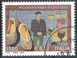 Italia, 2000 Fiera Di Sant'Orso, 1000L # Sassone 2493 - Michel 2714 - Scott 2361  USATO - 1946-.. République