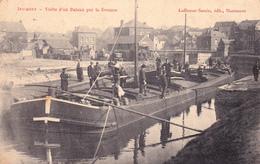 CPA Animée (59) JEUMONT Visite D'un Bateau Par La Douane Douanier Péniche Canal-Boat Barque (Beau Plan)  (2 Scans) - Other Municipalities