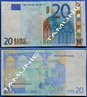 PORTUGAL 20 EURO M 2002 U017 B3 - TRICHET - 20 Euro