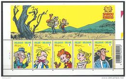 OCB Nr 3775/79 BL154 Bloc 154 Robbedoes Spirou Strip BD Comic Cartoon Franquin MNH !! - Belgio