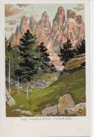 DOLOMITEN  -  DIE FERMEDA THÜRME  ~ 1900  KÜNSTLER AK  A. PAETZOLD - Italia