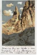 DOLOMITEN  -  WINKLERTHURM VON DER VAJOLETT-HÜTTE  ~ 1900  KÜNSTLER AK  A. PAETZOLD - Italia