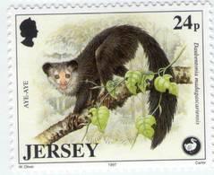 Lote J2, Jersey, 1997, Sello, Stamp, 5 V, Wildlife Preservation, Bird, Frog, Pigmy Hog - Jersey
