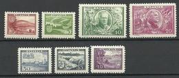 LETTLAND Latvia 1938 Michel 264 - 270 * - Lettonie