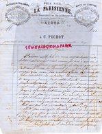 BELGIQUE - LIEGE- RARE LETTRE LA PARISIENNE A C. PICHOT-QUINCAILLERIE-BIJOUTERIE-1 RUE DOMINICAINS-1866 - 1800 – 1899