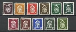 LETTLAND Latvia 1940 Michel 281 - 291 MNH/MH - Lettonie