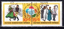 DDR 1962 Mi. 905-906 Weltfestspiele ZD Gestempelt (p1065) - Zusammendrucke