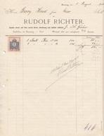 RECHNUNG 1913 Mit 2 Filler Stempelmarke, A4 Format, Gefaltet - Austria
