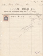 RECHNUNG 1913 Mit 2 Filler Stempelmarke, A4 Format, Gefaltet - Österreich