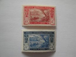 1934/5 Côte D'Ivoire Yv 104/5 *  MH Bateaux Ships Cote 12.10 €  Michel 106/7  Scott 61 - 68  SG 68 - 73  Lagune Ebrié - Neufs