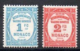 MONACO - YT Taxe N° 27-28 - Neufs * - Cote 235,00 € - Portomarken