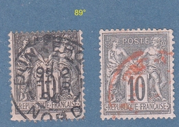 N° 89°  Sage Type II  Oblitérés - 1876-1898 Sage (Type II)