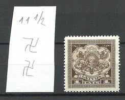 LETTLAND Latvia 1927 Michel 123 Perf 11 1/2 * WM Inverted Vertical - Lettland