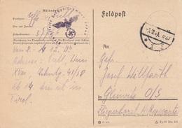 FELDPOSTKARTE 1941, Gel. > Gleiwitz - 1939-45