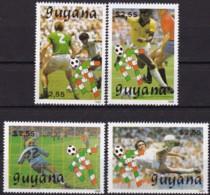 Guyana, 1989, 3059/62, Fußball-Weltmeisterschaft 1990, Italien, MNH ** - Guyana (1966-...)