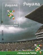 Guyana, 1989, 3063 Block 58, Fußball-Weltmeisterschaft 1990, Italien, MNH ** - Guyana (1966-...)
