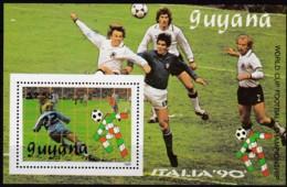 Guyana, 1989, 3062 Block 62, Fußball-Weltmeisterschaft 1990, Italien, MNH ** - Guyana (1966-...)