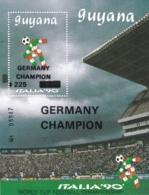 Guyana, 1991, 3493 Block 118,, Gewinner Der Fußball-Weltmeisterschaft 1990, Italien. MNH ** - Guyana (1966-...)