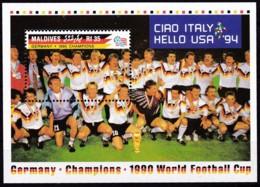 Malediven, 1992, 1771 Block 236, Gewinn Der Fußball-Weltmeisterschaft, Italien. MNH ** - Malediven (1965-...)