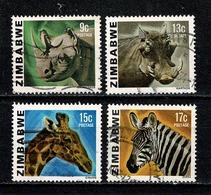 Zimbabwe 1980 Mi 232, 234, 235, 236, SG 581, 583, 584, 585 Used - Zimbabwe (1980-...)