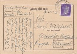 FELDPOSTKARTE 1942, Gel. Innsbruck > Gleiwitz - 1939-45