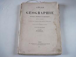 Atlas De Géographie Par DELMARCHE Par Gosselin 1861  38 Pages Doubles De Carte  Dans L'état  Voir Photo - Livres, BD, Revues