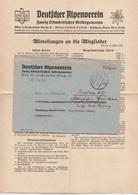 FELDPOSTBRIEF V. Deutschen Alpenverein 1942 Mit Inhalt, Gel. Wien > Breslau Schlesien - 1939-45