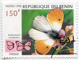 Lote Bn1, Benin, 1998, Sello, Stamp, 5 V, Mariposa, Butterfly - Benin – Dahomey (1960-...)
