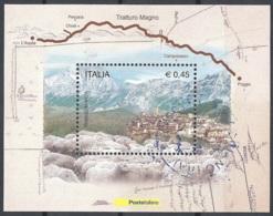 Italia, 2004 Tratturo Magno, Foglietto # Sassone BF39 - Michel B34 - Scott 2606  USATO - 6. 1946-.. Republik