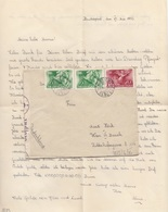 UNGARN 1940 - 3 Fach MIF Auf Zensur-Brief Gel. Budapest > Wien, Brief Mit Inhalt - Ungarn