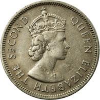 Monnaie, Mauritius, Elizabeth II, 1/2 Rupee, 1975, TTB, Copper-nickel, KM:37.1 - Maurice