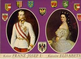 Osterreich - Kaiser - Franz Josef I - Kaiserin - Elisabeth - Formato Grande Non Viaggiata – At1 - Cartoline