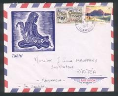 Lettre De Tuamotu Du 27 1 1970 - Belle Tahitienne - Polynésie Française