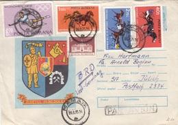 RUMÄNIEN 1975 - 5 Fach MIF Auf Brief Gel.v. Mamaia > Jülich - 1858-1880 Fürstentum Moldau