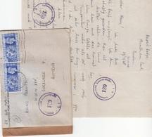 ENGLAND 1948 - 2 Fach Frankierung Auf Zensur-Brief Gel.v. Muntham > Wien - 1858-1880 Fürstentum Moldau