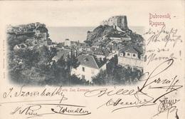DUBROVNIK - Ragusa, Forte San Lorenzo, Litho Gel.1898 Mit 10 Kreuzer Österr.Nachporto, Stempel Gravusa, Wien - Jugoslawien