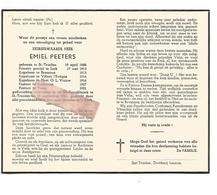 P 854. E.H. EMIEL PEETERS - ST-TRUIDEN 1888/1961 - LUIK/BRESSOUX/VILLERS L'EVÊQUE/HOEI/ANTHISNES/VELM - Images Religieuses